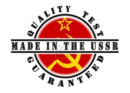 Photo pour Test de qualité timbre garanti avec un drapeau national à l'intérieur, URSS - image libre de droit