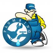 Plumber image for business sanitary technician