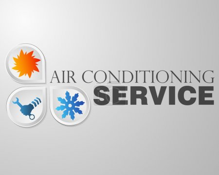Illustration for Symbol air conditioning repair business - Royalty Free Image