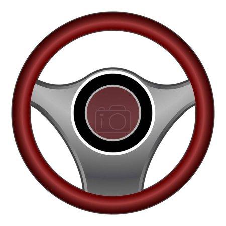 Illustration pour Icône volant de voiture. Caricature de l'icône vectorielle de volant de voiture pour la conception web isolé sur fond blanc - image libre de droit