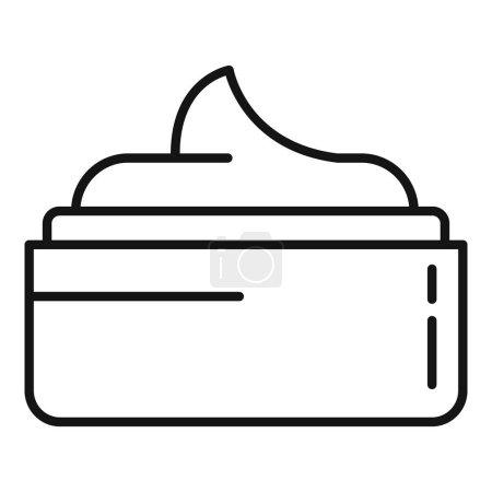 Illustration pour Icône crème corporelle. Aperçu Icône vectorielle crème pour le design web isolé sur fond blanc - image libre de droit