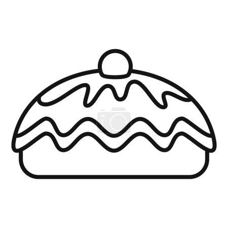 Illustration pour Icône gâteau cerise. Découvrir Icône vectorielle gâteau cerise pour la conception web isolé sur fond blanc - image libre de droit