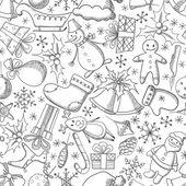 Vánoce a nový rok bezešvá vektorová vzor