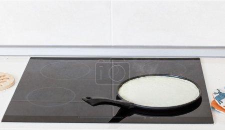 Baking of pancakes on the pan