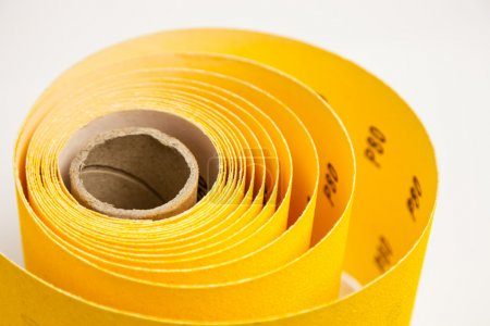 Yellow abrasive paper