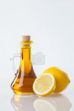 Olive oil and fresh lemon