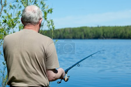 Fishing man with a rod