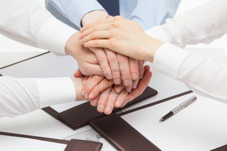 Business people's hands