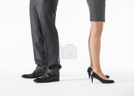 Business people's legs