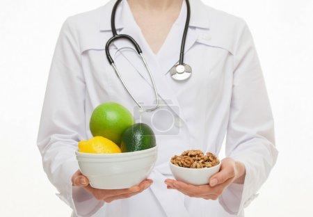 Dietarian proposing fresh fruits