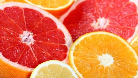 Photo for Close-up of a fresh orange, grapefruit and lemon - Royalty Free Image