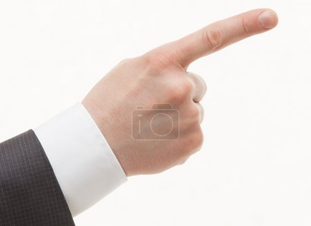 Businesman's hand indicating up