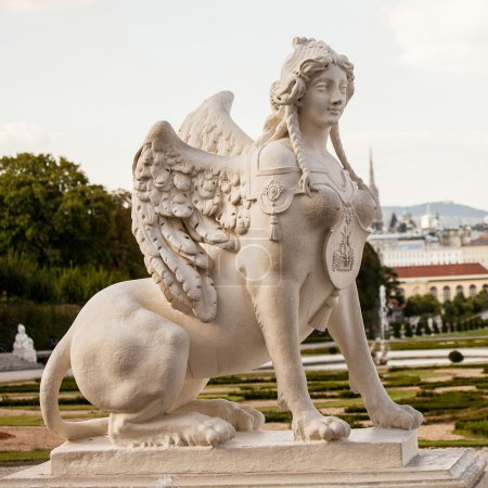 Sphinx statue in Belvedere Palace