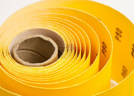 Yellow abrasive paper