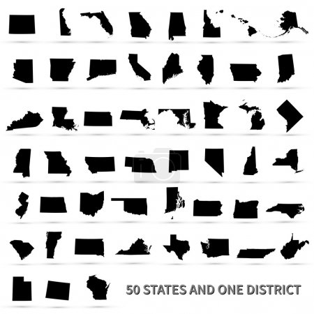 United States of America 50 states and 1 federal district. US st