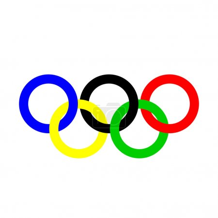 Olympic rings. Olympics circles.