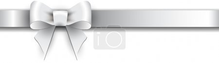 Illustration for Silver satin bow on a white background - Royalty Free Image