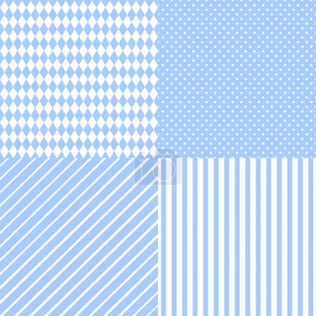 Set abstract retro pattern
