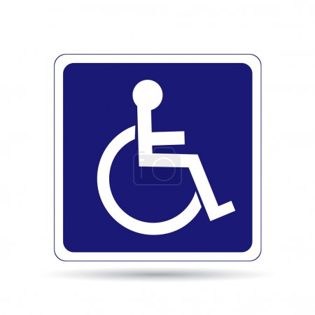 Handicapped person sign