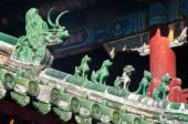 Hagyományos kínai őröket, a láma templom, Beijing tető