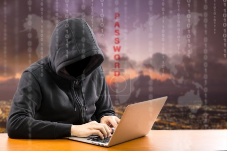 Hackers programmer using computer laptop