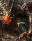 Bojový drak rytíře
