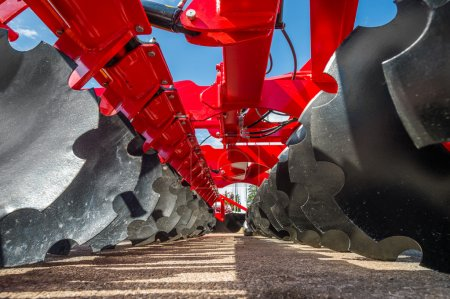 Agricultural machinery in fair