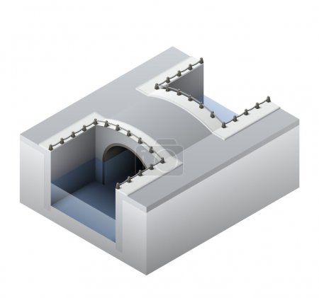 Isometric channel bridge