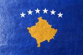 Vlajka Kosova, namalované na kožené textury