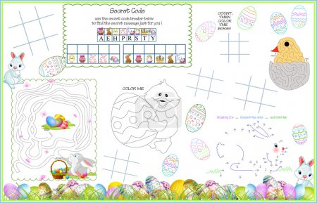 Placemat Easter Printable Activity Sheet 8