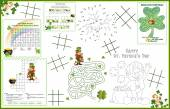 Placemat  St Patricks Day Printable Activity Sheet 1