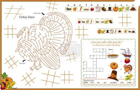 Placemat Thanksgiving Printable Activity Sheet 3