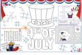 Placemat July Printable Activity Sheet 5