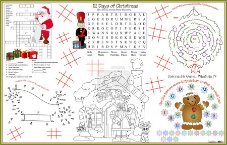 Placemat Christmas Printable Activity Sheet 10