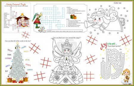 Placemat Christmas Printable Activity Sheet 9