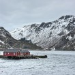 The small fishing town of Nusfjord, Lofoten Island...