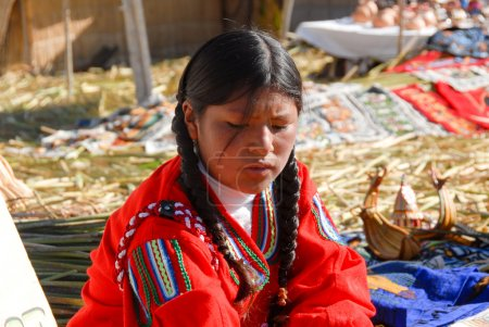 Jeune fille péruvienne, Lac Titicaca