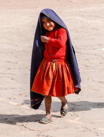 Fille péruvienne locale, Lac Titicaca, Pérou