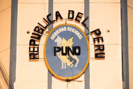Firma del Gobierno de Puno, República del Perú .
