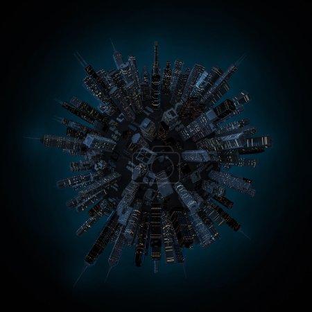 Night city globe