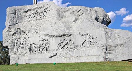 Photo pour Monument aux défenseurs tombés de la forteresse de Brest, Biélorussie - image libre de droit