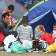 BELGRADE, SERBIA - SEPTEMBER 5 : Syrian refugees resting in a park in tents near the train station and waiting for the transport to the European Union on September 5th, 2015 in Belgrade, Serbia.