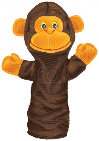 Image of monkey puppet isolated