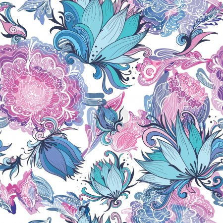 Elegant Romantic Vector Floral Pattern