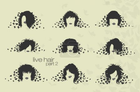 Womens hairstyles and hair with butterflies