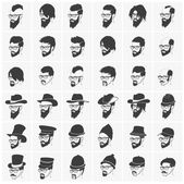 Hairstyles with beard and mustache wearing glasses wearing hats
