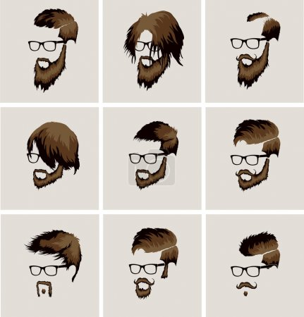 Male faces  style collection