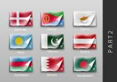 Set of flags of the countries