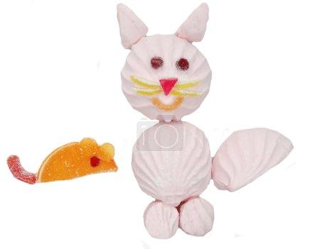 Photo pour Chat marmelade créatif bonbons doux enfant dessert forme souris - image libre de droit