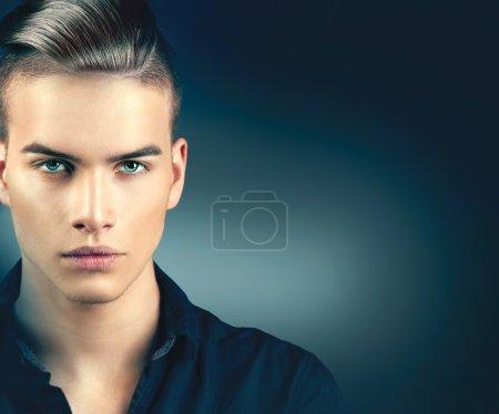Fashion model man portrait.